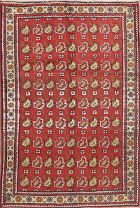 Geometric Mahal Red Persian Area Rug 3x5