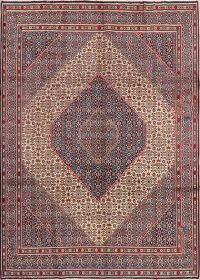 Vintage Geometric Mood Persian Area Rug 7x10