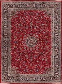 Floral Mashad Red Persian Area Rug 8x12