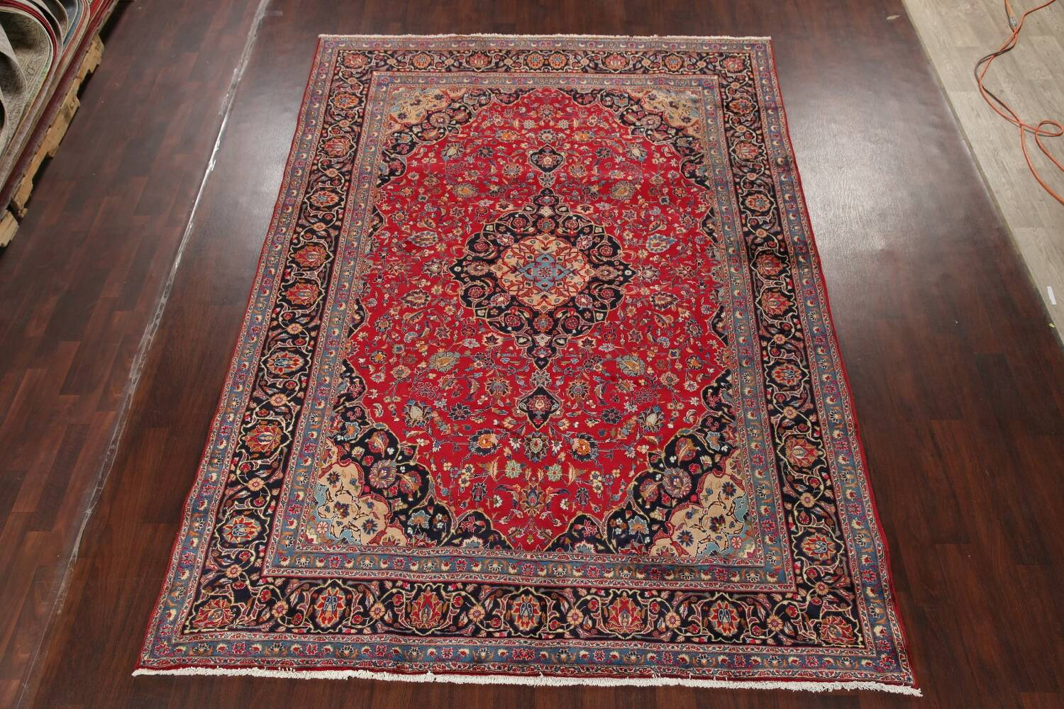 Floral Kashmar Red Persian Area Rug 8x11 image 2