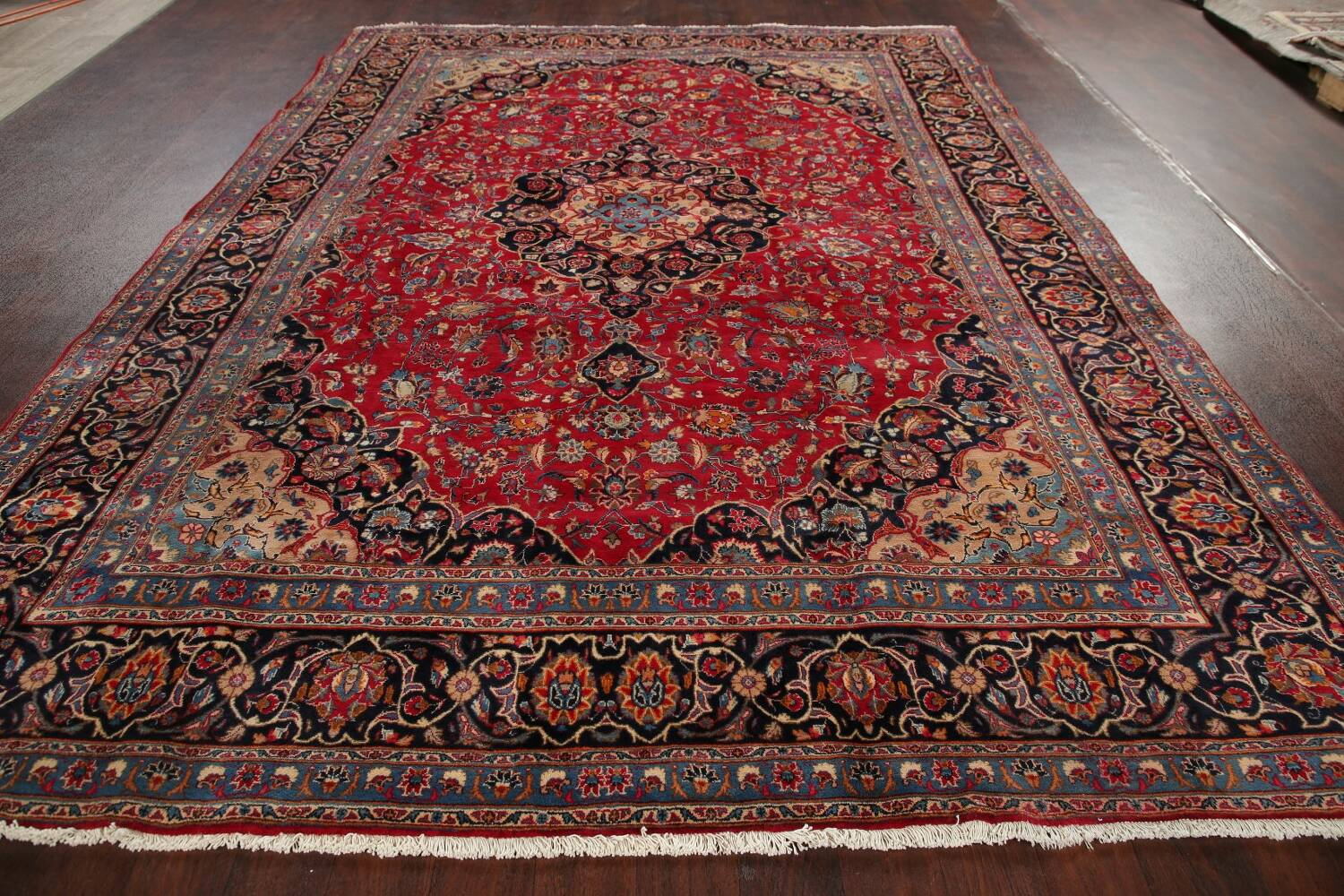 Floral Kashmar Red Persian Area Rug 8x11 image 16
