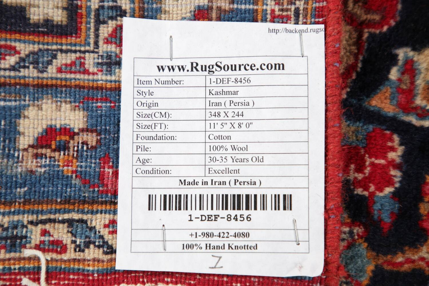 Floral Kashmar Red Persian Area Rug 8x11 image 23