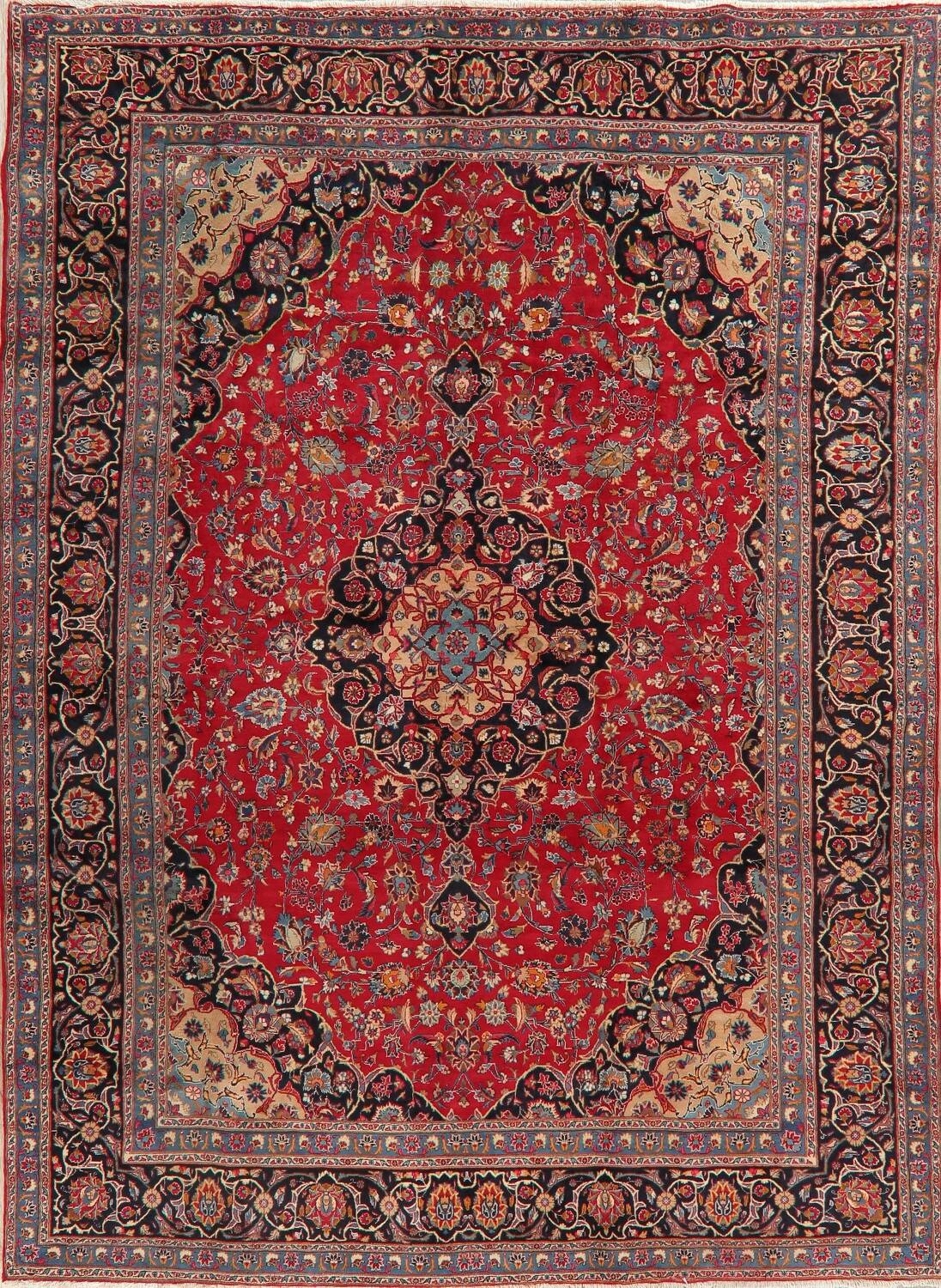 Floral Kashmar Red Persian Area Rug 8x11 image 1