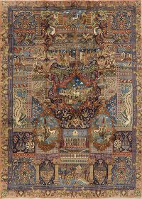 Dynasty Historical Kashmar Persian Area Rug 10x13