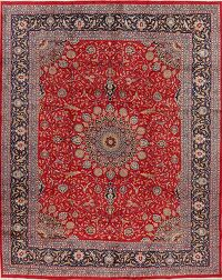 Floral Red Kashmar Persian Area Rug 10x13