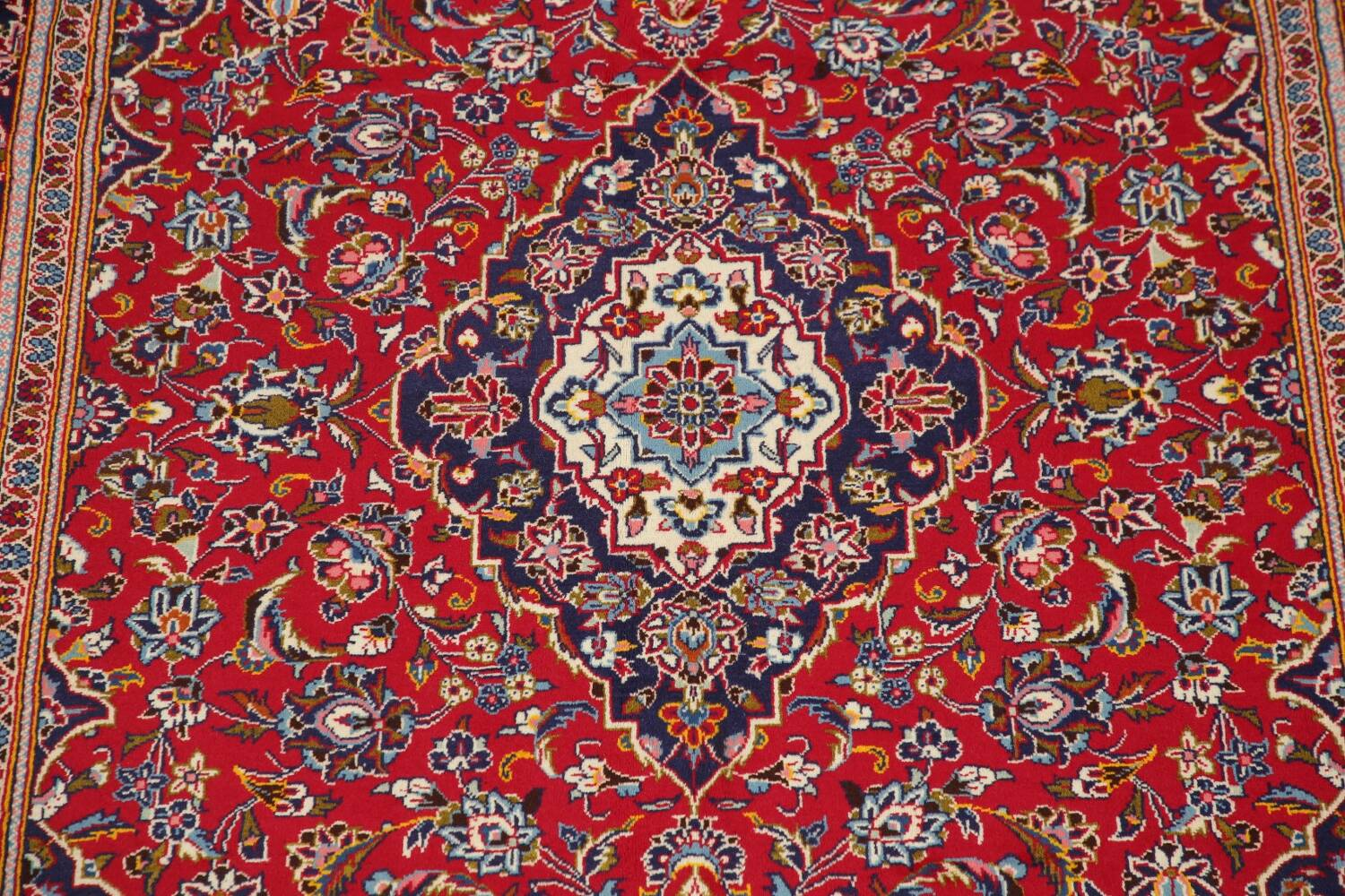 Traditional Floral Red Kashan Persian Area Rug 6x10 image 4