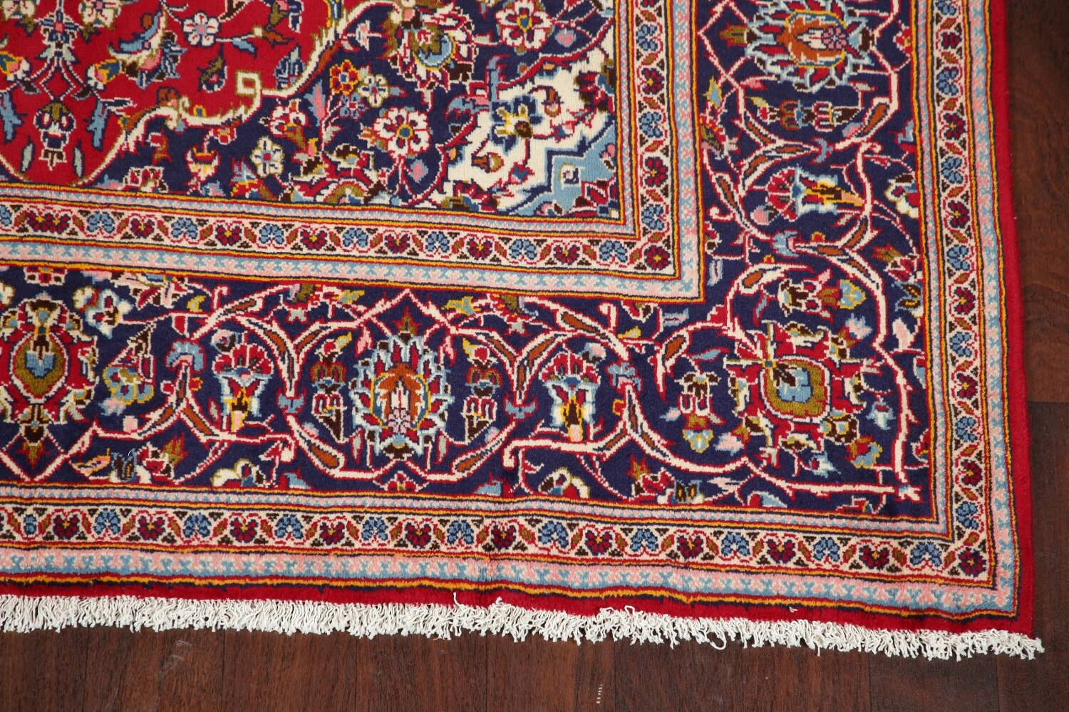 Traditional Floral Red Kashan Persian Area Rug 6x10 image 5