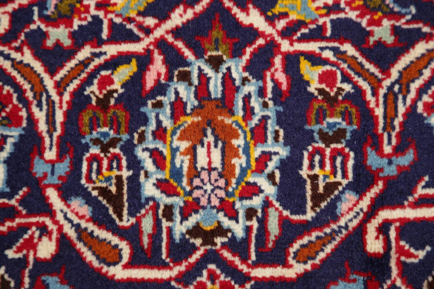 Traditional Floral Red Kashan Persian Area Rug 6x10 image 9