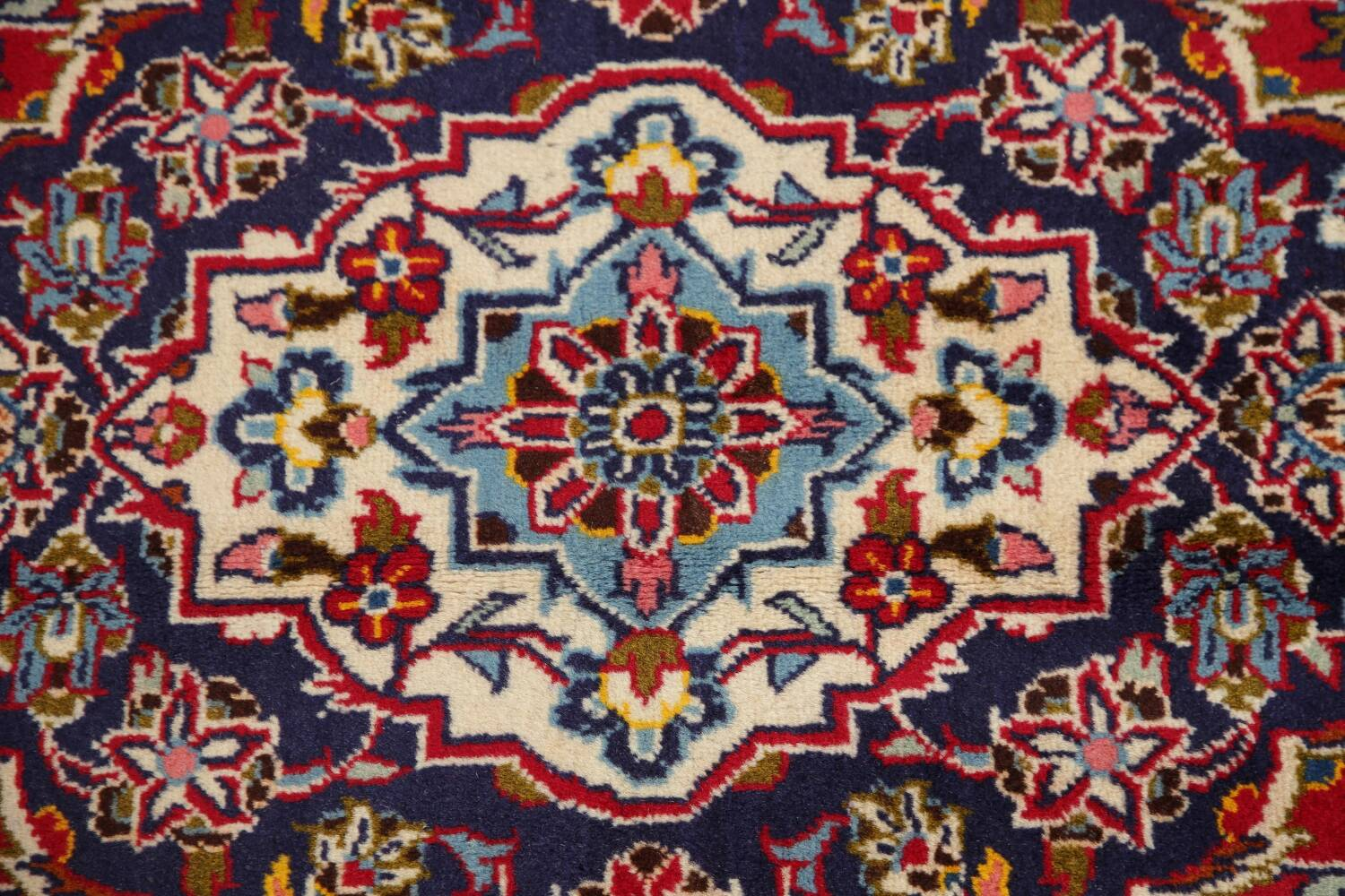 Traditional Floral Red Kashan Persian Area Rug 6x10 image 12