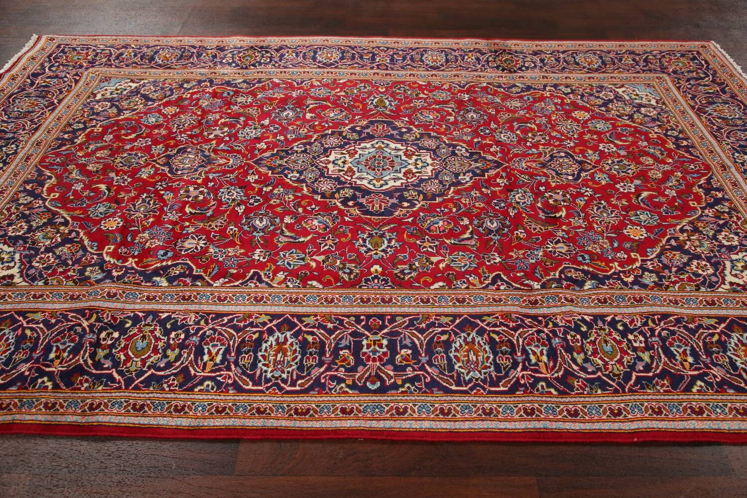 Traditional Floral Red Kashan Persian Area Rug 6x10 image 15