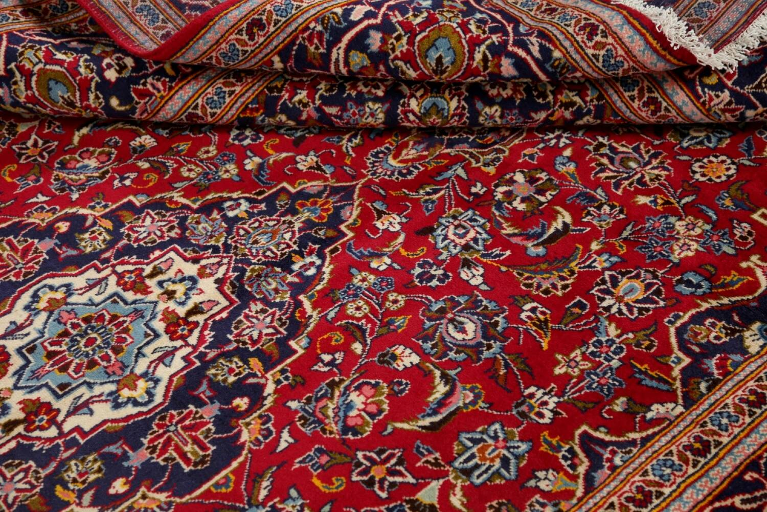 Traditional Floral Red Kashan Persian Area Rug 6x10 image 17
