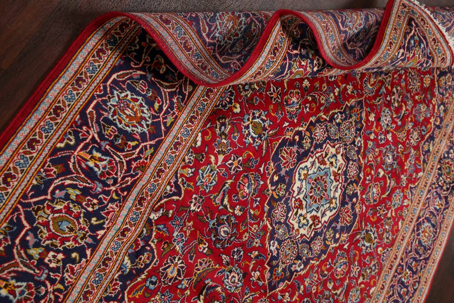 Traditional Floral Red Kashan Persian Area Rug 6x10 image 18