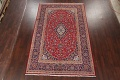 Traditional Floral Red Kashan Persian Area Rug 6x10 image 2