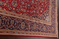 Traditional Floral Red Kashan Persian Area Rug 6x10 image 14