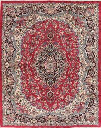 Floral Red Kerman Persian Area Rug Wool 10x13