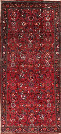 All-Over Red Floral Tabriz Persian Runner Rug 6x14