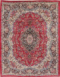 Floral Red Kerman Persian Area Rug 10x12