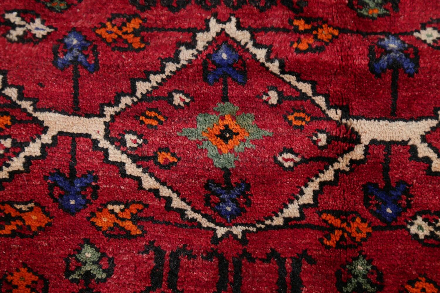 Vintage Geometric Red Malayer Persian Runner Rug 4x9 image 9