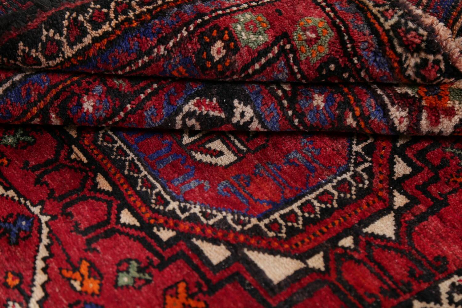 Vintage Geometric Red Malayer Persian Runner Rug 4x9 image 17
