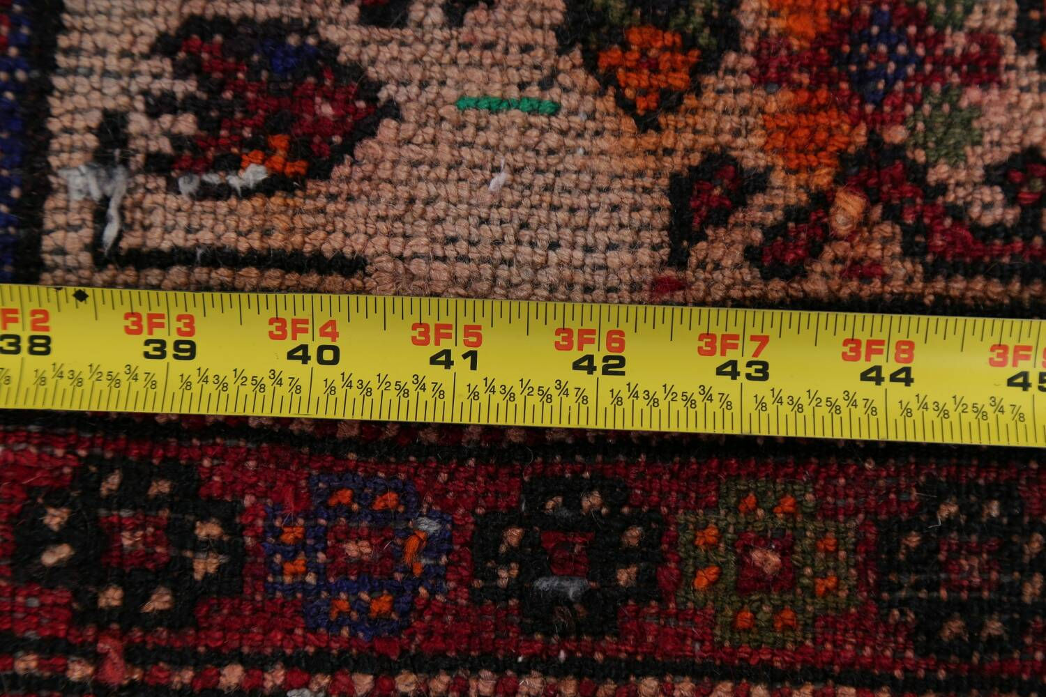 Vintage Geometric Red Malayer Persian Runner Rug 4x9 image 21