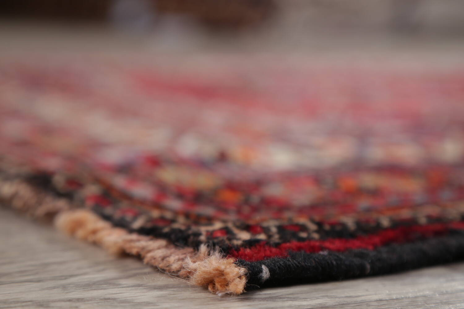 Vintage Geometric Red Malayer Persian Runner Rug 4x9 image 6
