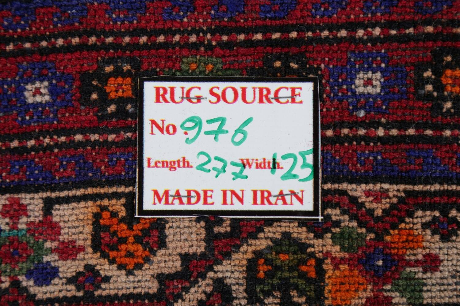 Vintage Geometric Red Malayer Persian Runner Rug 4x9 image 22