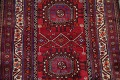 Vintage Geometric Red Malayer Persian Runner Rug 4x9 image 4