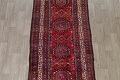 Vintage Geometric Red Malayer Persian Runner Rug 4x9 image 3