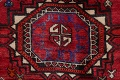 Vintage Geometric Red Malayer Persian Runner Rug 4x9 image 10