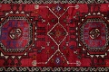 Vintage Geometric Red Malayer Persian Runner Rug 4x9 image 12