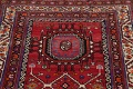 Vintage Geometric Red Malayer Persian Runner Rug 4x9 image 13