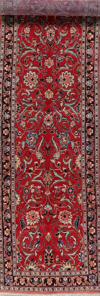 Floral Red Sultanabad Persian Runner Rug 3x14