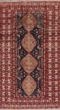 Tribal Geometric Ardebil Persian Area Rug 4x8