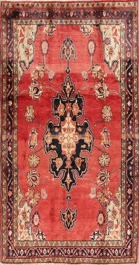 Vintage Red Sultanabad Persian Area Rug 5x9