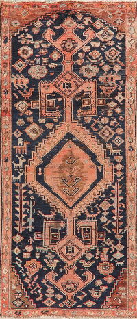 Antique Geometric Malayer Persian Runner Rug 4x8