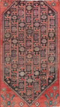 Antique Geometric Bakhtiari Persian Area Rug 4x7