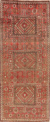 Antique Geometric Bakhtiari Persian Runner Rug 4x9