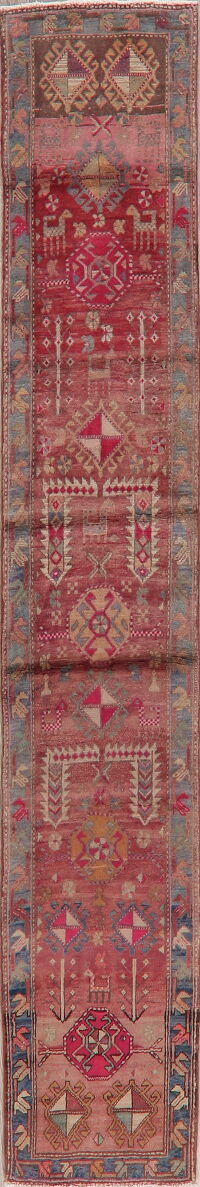 Meshkin Persian Distressed Runner Rug 2x10