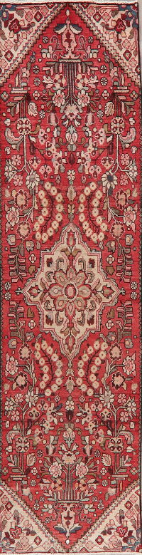 Antique Floral Lilian Persian Red Runner Rug 3x9
