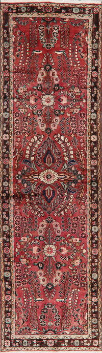 Floral Red Lilian Persian Runner Rug 3x12