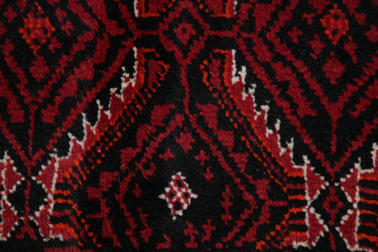 Geometric Red Balouch Oriental Runner Rug 3x7 image 9