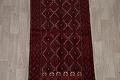 Geometric Red Balouch Oriental Runner Rug 3x7 image 3