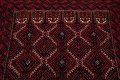 Geometric Red Balouch Oriental Runner Rug 3x7 image 12