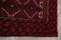 Geometric Red Balouch Oriental Runner Rug 3x7 image 13