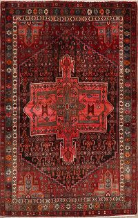 Tribal Geometric Bidjar Persian Area Rug 4x7