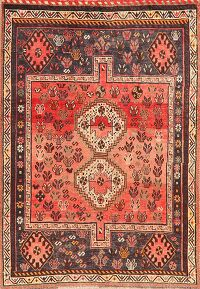 Antique Tribal Geometric Lori Persian Area Rug 5x7