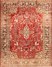 Vintage Floral Red Lilian Persian Area Rug 5x7