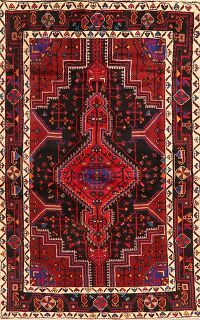 Tribal Geometric Hamedan Persian Area Rug 5x7