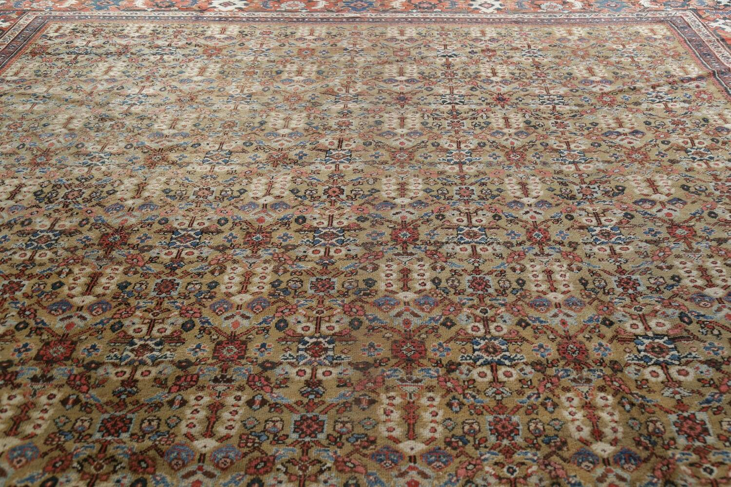 Antique Pre-1900 Sultanabad Persian Rug 13x22 Large image 15