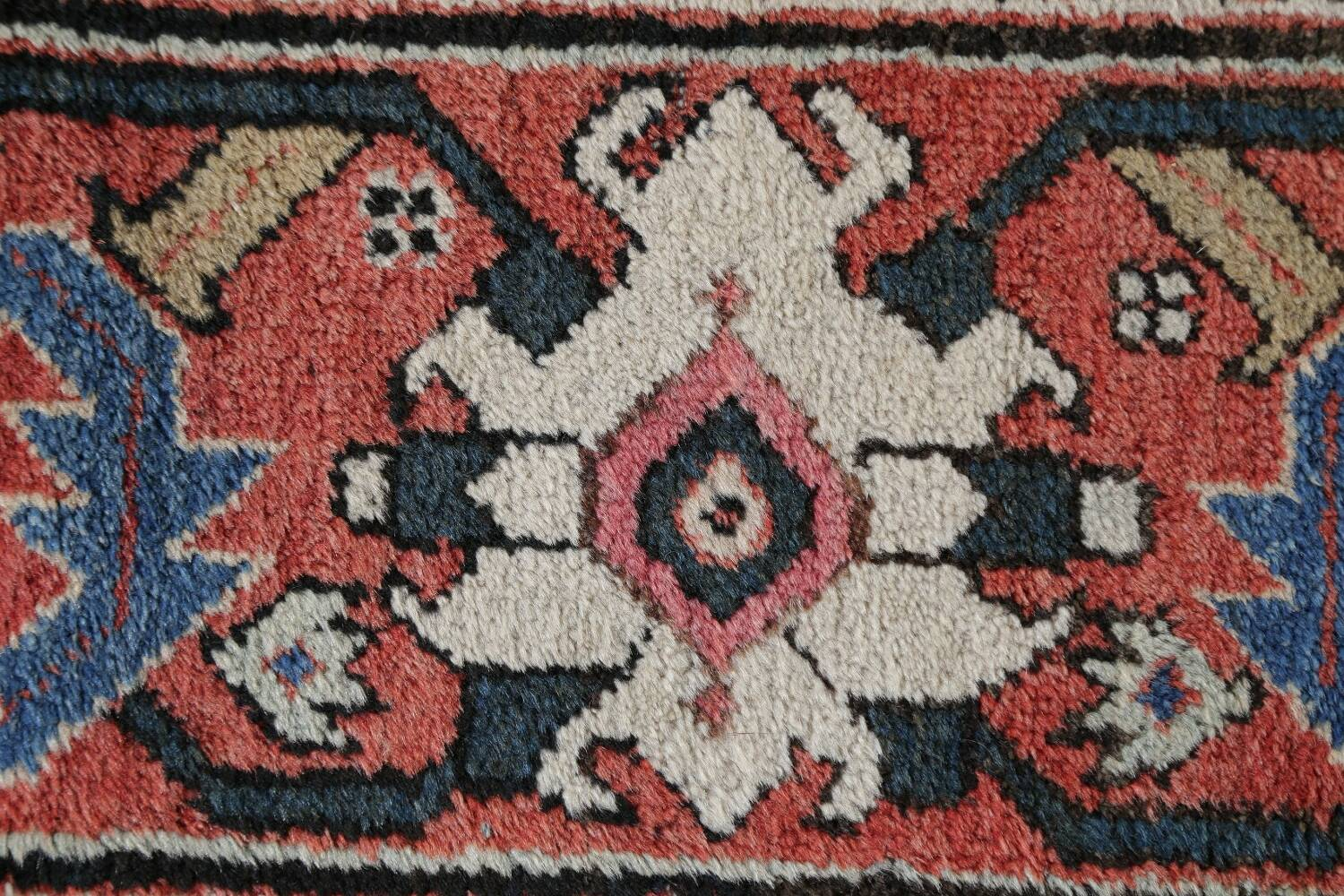 Antique Pre-1900 Sultanabad Persian Rug 13x22 Large image 12